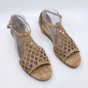 Vaneli Cork Wedge Heel Size 9 Narrow